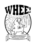 Willamette Headwaters Endurance Events: WHEE. That's why there's a little piggy.